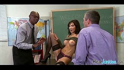 Mom makes son watch her get fucked by big black cock 155
