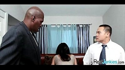Mom makes son watch her get fucked by big black cock 279