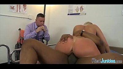 Interracial cuckold with mom 099