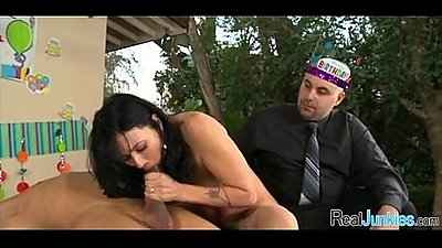 Interracial cuckold with mom 063