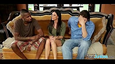 Mom makes son watch her get fucked by big black cock 464