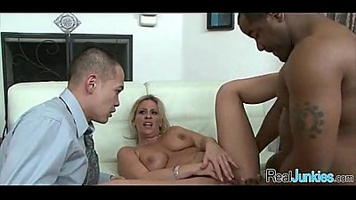 Watching mom fuck a black guy 156