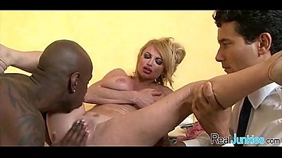 Watching mom fuck a black guy 050