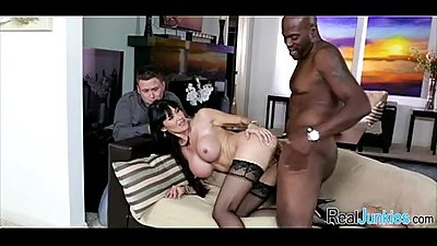 Mom makes son watch her get fucked by big black cock 374