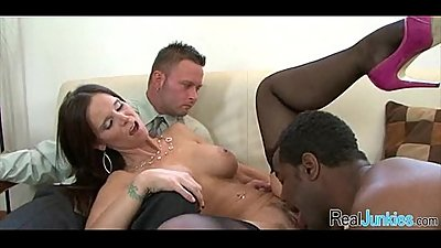 Watching mom fuck a black guy 071