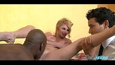 Interracial cuckold with mom 313