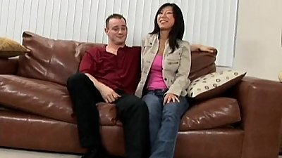 Asian mom gets big cock for her 1