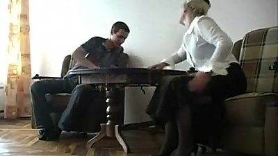 Lovely chubby mom having sex with own son