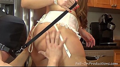 Madisin Lee in Ass Slave Meal Time. PAWG MILF Big ass has slave eat her asshole