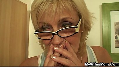 She enjoys sucking and riding her son-in-law'_s cock