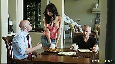 Slutty busty MILF Diana Prince fucks her son&#039_s college recruiter